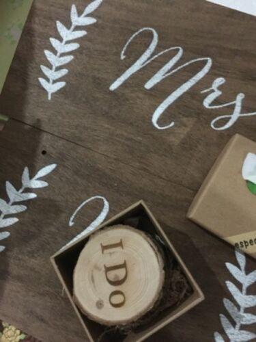 Personalizzato Matrimonio Schienale Sedia Grande Segnale Appeso Mr/&mrs Rustico