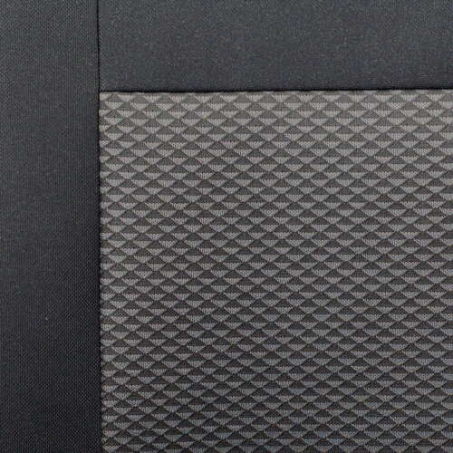 Schwarz-Graue Dreiecke Sitzbezug Renault Maxity Vorne Fahrersitz