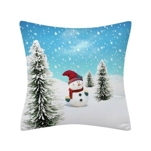45CM Christmas Pillow Case Glitter Polyester Sofa Throw Cushion Cover Home YL