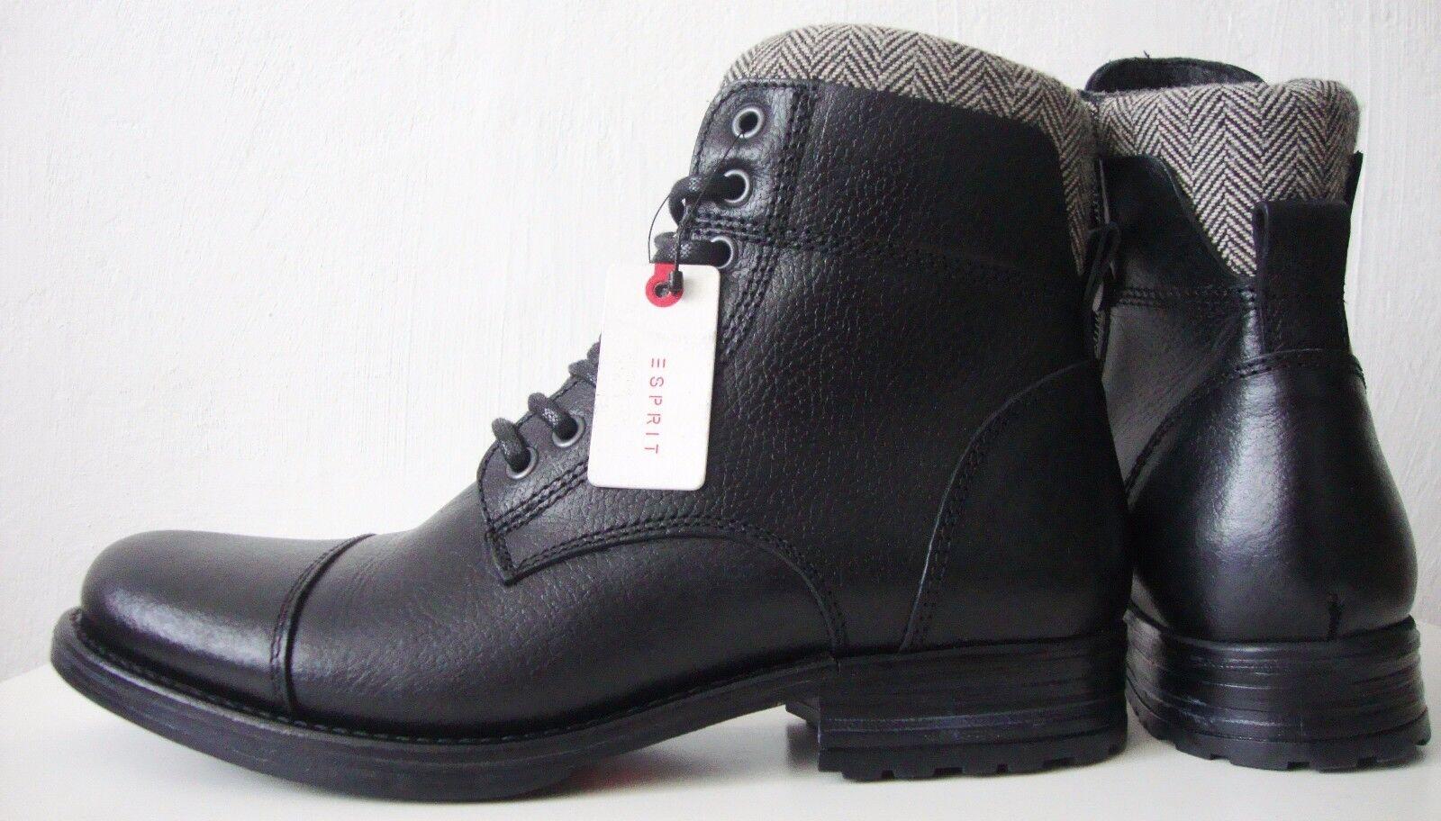 ESPRIT Herren Leder Stiefelette Boots Schuhe Winterstiefel Gr.44 NEU mit ETIKETT
