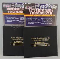 2 Auto Car Truck Registration Insurance Document Holder Wallet Case Id Card