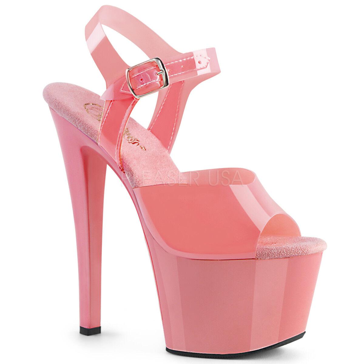 il più economico Pleaser SKY-308N Donna  Baby rosa Jelly-Like TPU TPU TPU Open Toe Platform Strap Sandal  acquista online oggi