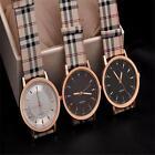 PU leather stainless steel simple Lady Womens Wrist Watch Wristwatch Quartz EC