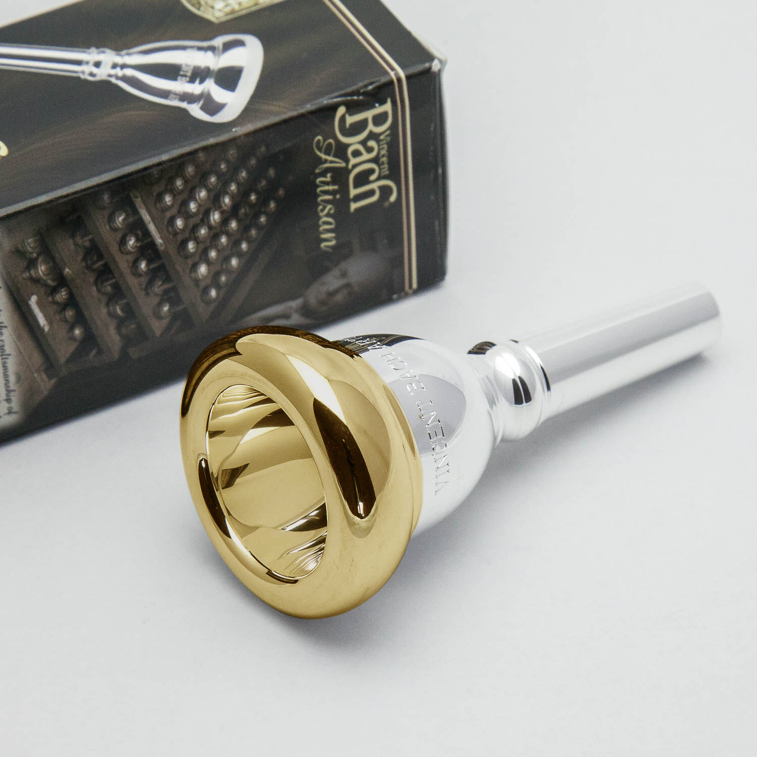 Bach 11C Gold Rim Artisan Small Shank Trombone Mouthpiece 402 BB .2283  Throat