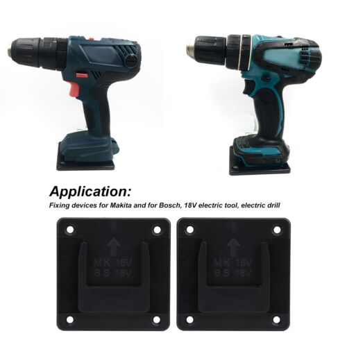 2Pcs Tool Storage Rack Wall Mount Fixing Devices for Makita 18V Electric Tool