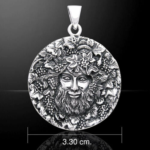 Bacchus God of Wine .925 Sterling Silver Pendant by Peter Stone
