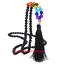7 Chakra Pierres naturelles noir Lava Stone Long Tassel Collier Pour Femmes 30 in environ 76.20 cm