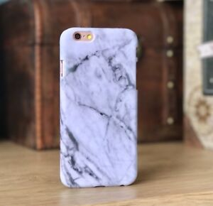 Apple-iPhone-6-amp-6S-Case-Marble-Effect-High-Impact-Shell-Dual-Layer-Black