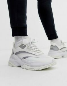 CHUNKY SOLE' White / Gray SNEAKERS