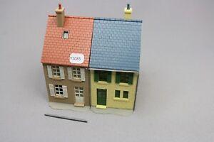 Y1085-Jouef-1983-maquette-train-Ho-1-87-bloc-2-immeuble-pierre-maison-assemble