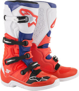 Alpinestars-MX-Motocross-Tech-5-Boots-Red-Fluo-Blue-White-Choose-Size