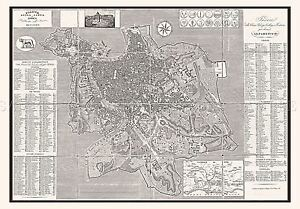 MAP-ANTIQUE-FORNARI-1866-ROME-CITY-PLAN-OLD-LARGE-REPLICA-POSTER-PRINT-PAM0901