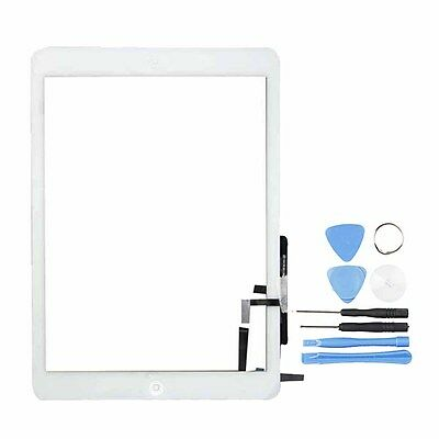 US Glass Touch Screen Digitizer For iPad Air 5 + Home Button  + Tools White New
