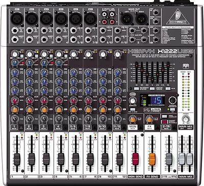 Behringer Xenyx X1222usb 16 Input 2 Bus Usb Table De Mixage Avec