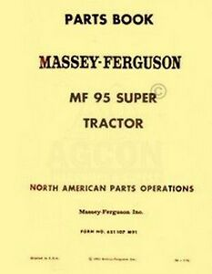 Massey-Ferguson-MF-Super-95-Tractor-Parts-List-Manual