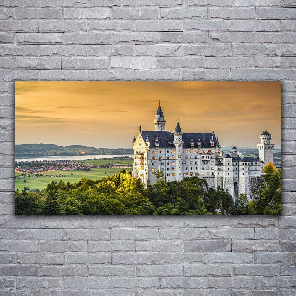Verre Imprimer Wall Art 120x60 image photo Chateau Paysage