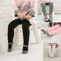 Toddler Kids Baby Girl Winter Warm Tights Stockings Hosiery Pantyhose Pants UK