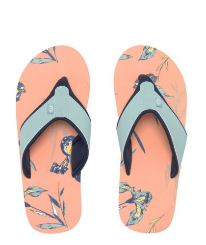 New Animal Swish AOP Sunset Rose Pêche Bleu Marine Floral Femmes Tongs Tailles 4-8
