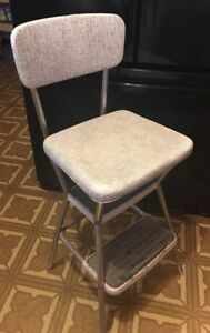 Vintage Mid Century Modern Cosco Stylaire Kitchen Chair Seat Step