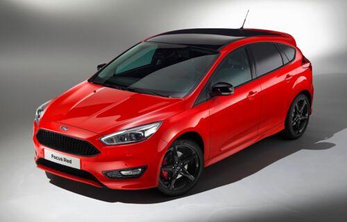 Ford Focus Brillo Negro Puerta Ala Espejo Cubre Tapas par de lados derecho izquierda