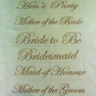 HENS NIGHT BRIDAL SASH SASHES BRIDE GROOM BRIDESMAID MAID OF HONOUR IVORY & GOLD