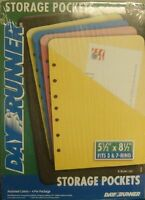041-175 Day Runner Storage Pockets. 4 Per Package. Size 5 1/2 X 8 1/2