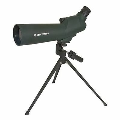 Celestron 60mm 60x Zoom Refractor Powerful Spotter Telescope Angled, 52223-CGL