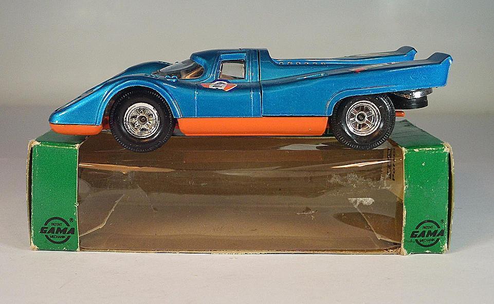 Gama Mini-Mod 1 40 Nº 9605 PORSCHE 917 bleumetallic neuf dans sa boîte  6402