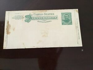 Prepaid Stamped Ulysses S. Grant Letter Sheet Envelope Unused Vintage Postal