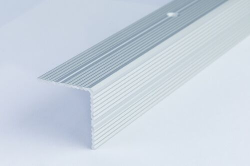 """30x30mm TRIM 1.8M 70.86/"""" ANODISED ALUMINIUM ANTI NON SLIP STAIR EDGE NOSING"""