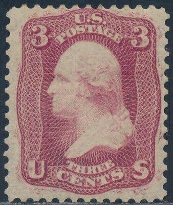 #56 3¢ PREMIER GRAVURE 1861 MINT OG LH WITH PF CERT CV $550 BS9356