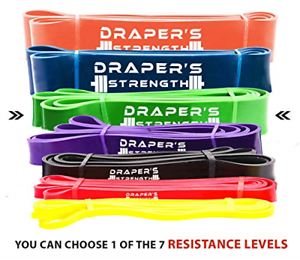 Draper/'s Strength Heavy Duty Pull Up Assist and Powerlifting Stretch Bands Band