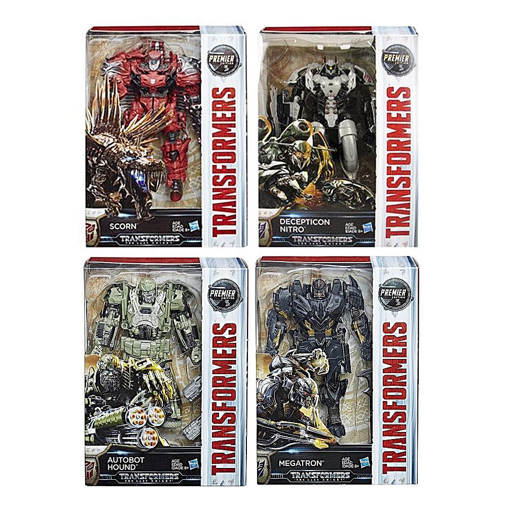 Transformers Last Knight Premier Edition Voyager Scorn Nitro Hound Megatron Set