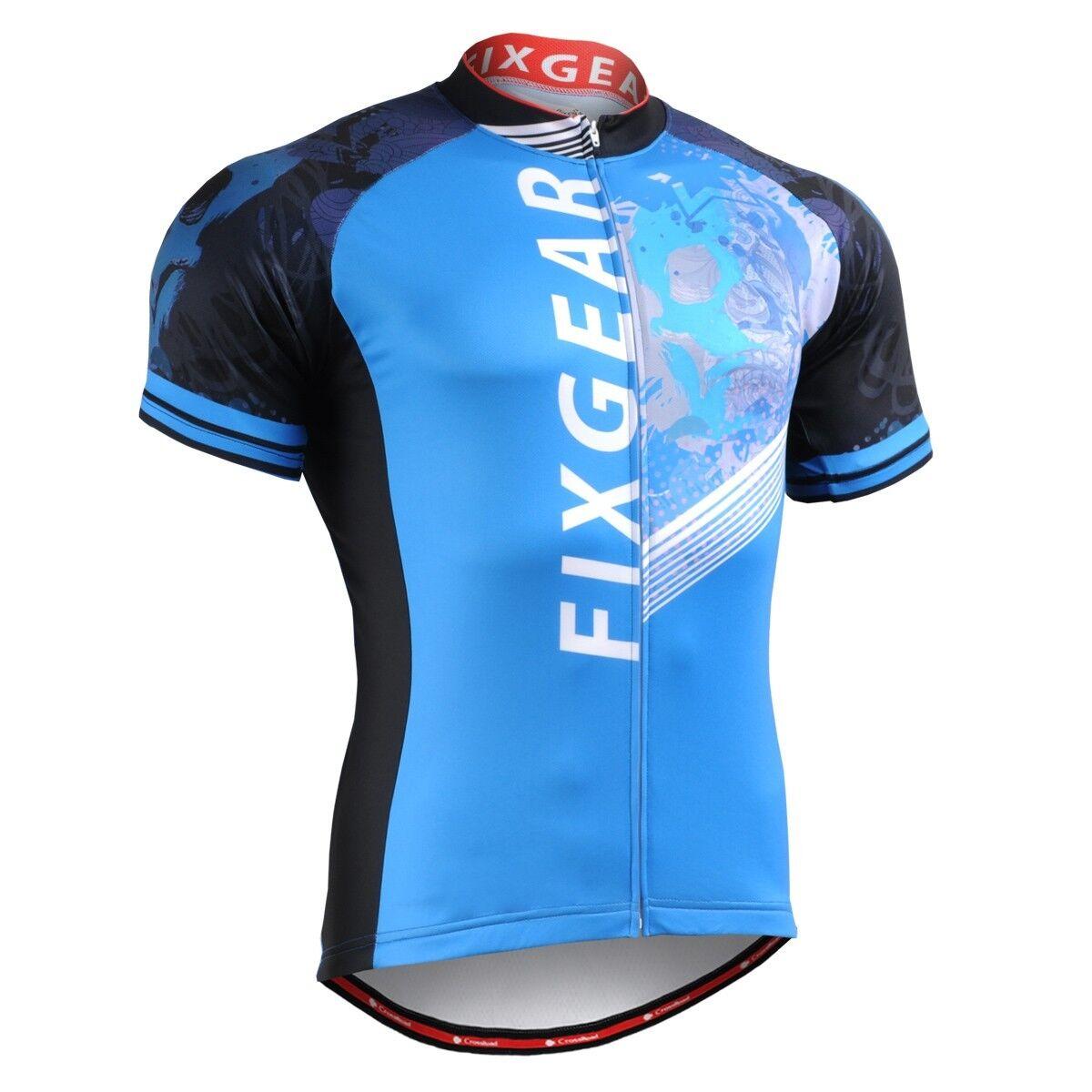 FIXGEAR CS-4602 Men's Short Sleeve Cycling Jersey Bicycle Apparel Roadbike MTB