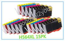 15PK HP 564XL Ink Cartridge For Photosmart 6510 6520 7510 7520 Printer