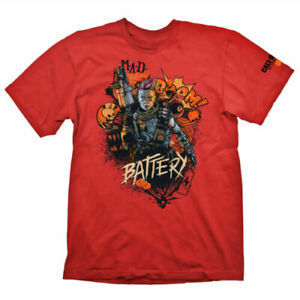 Nouveau-Call-of-Duty-Black-Ops-4-T-shirt-034-Battery-RED-034-TAILLE-XL-Merchandising-Rouge