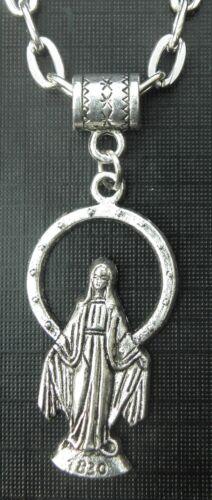 "20/"" 24/"" Inch Holy Mary Necklace Mother of Jesus Pendant Miriam Maryam Maryām"