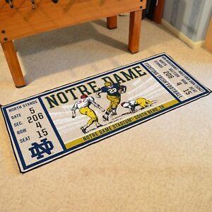 Notre-Dame-Fighting-Irish-30-034-X-72-034-Ticket-Runner-Area-Rug-Floor-Mat