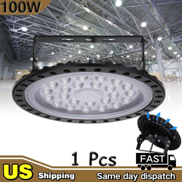6x 150W UFO LED High Bay Light Gym Factory Warehouse Industrial Shed Lighting
