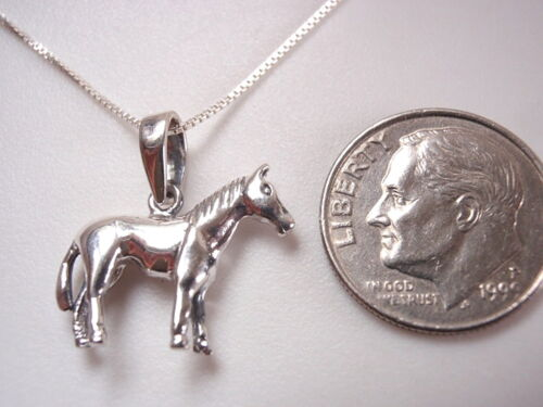 Horse Pendant 925 Sterling Silver Corona Sun Jewelry riding stables equine pony