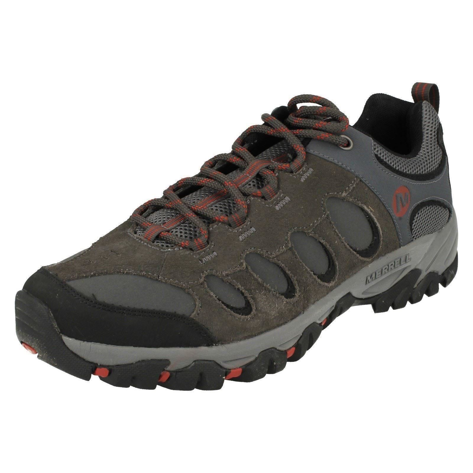 Mens RIDGEPASS BOLT Granite rot ochre Leather Lace Up trainers By Merrell