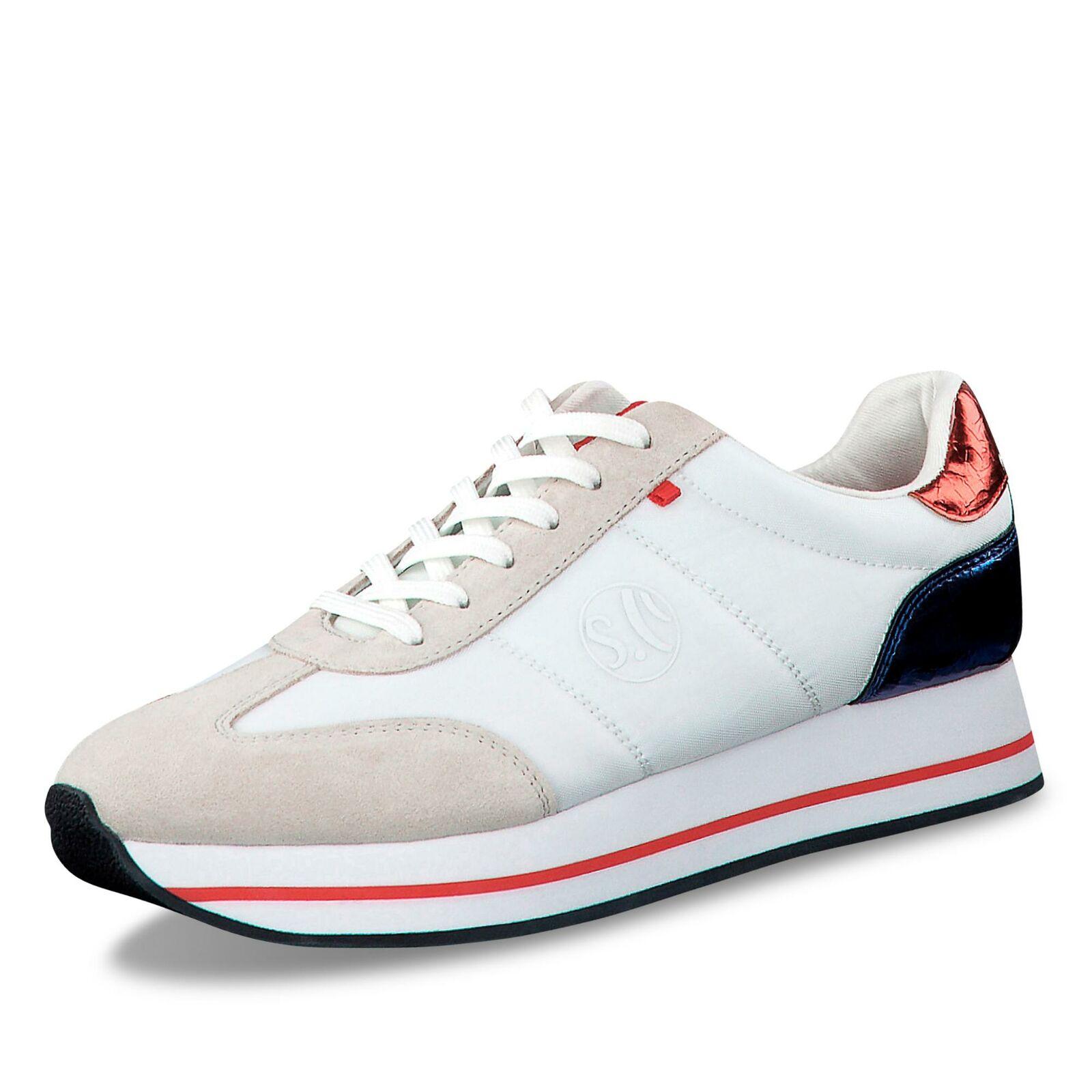 S.Oliver Damen Turnschuhe low Schnürschuhe Freizeitschuhe Halbschuh Komfort Schuhe