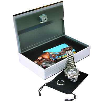 Book Lock Box Key Hidden Diversion Safe Stash Secret Security Girl Jewelry Money