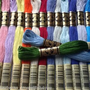 3 - 57 DMC CROSS STITCH THREADS/SKEINS - PICK YOUR OWN COLOURS FREE PP
