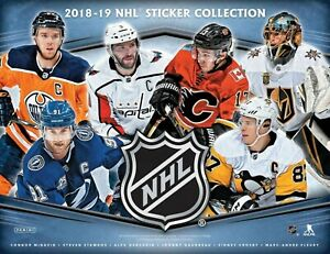 2018-19-Panini-NHL-Hockey-Sticker-Box-Factory-Sealed-50-Packs-250-Stickers