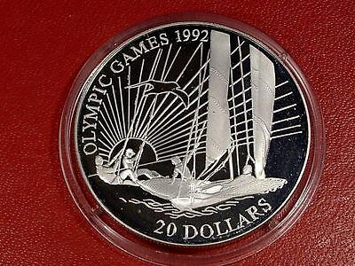 New Fashion 1992 Kiribati Large Silver Proof $20 Olympic Sailing