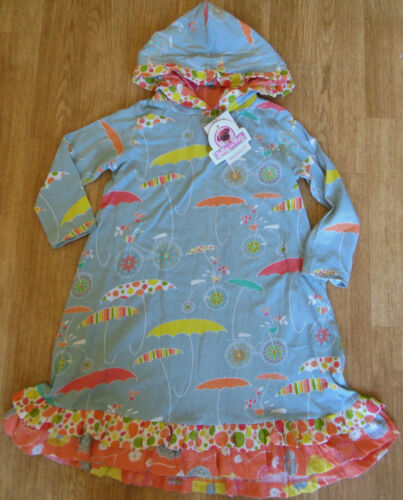 Jelly the Pug girl hooded dress 3-4 y  BNWT designer umbrella print