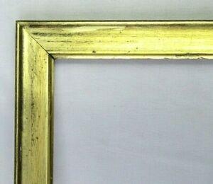 """ANTIQUE FITS 13"""" X 15"""" LEMON GOLD GILT WOOD PICTURE FRAME FINE ART VICTORIAN"""