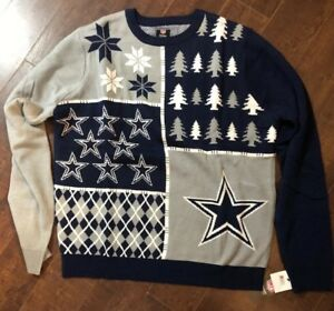 brand new 18482 6cfce Details about NEW Dallas Cowboys Ugly Funny Patches Christmas Sweater NFL  Football XL
