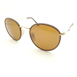 Ray Ban Sunglasses 3475Q 9041 Brown Leather Brown 50mm New Authentic ... 28f88ae00d